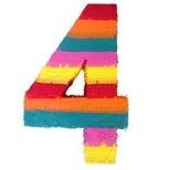number-4-shaped-pinata