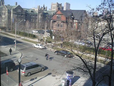 A shot from Bahen Center at University of Toronto - St. George and Russel Street