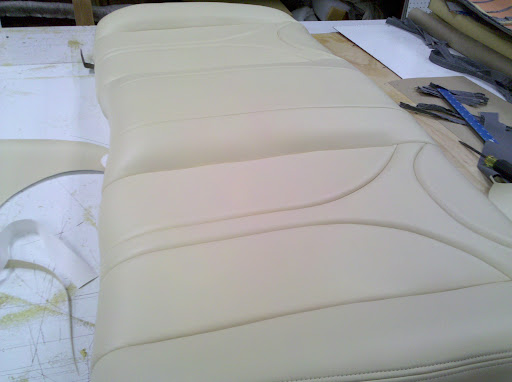 I have upholstered some old ford supercoupe seats in beige ultraleather
