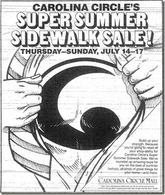 Sidewalk Sale July 1988