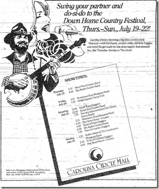 Down Home Country Festival July 1990