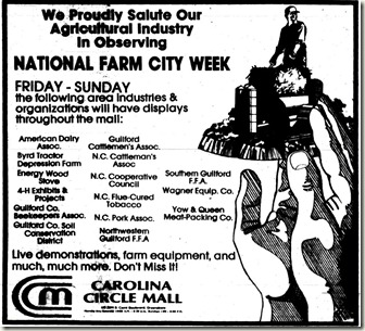 National Farm City Week October 1985