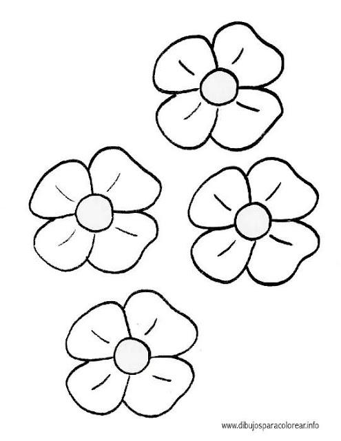 Dibujos De Flores Para Colorear Por Ninos