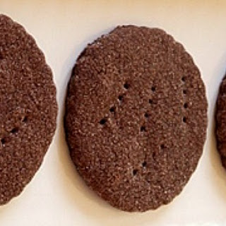 Mexican Chocolate Shortbread Cookies