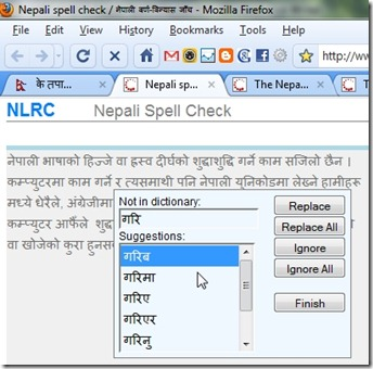 Online Nepali spell checker