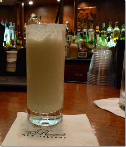 Ramos Gin Fizz at the Roosevelt Hotel