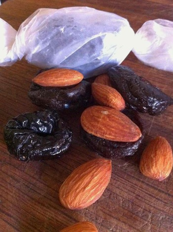 prunes and almonds