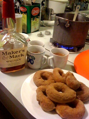 doughnuts and bourbon