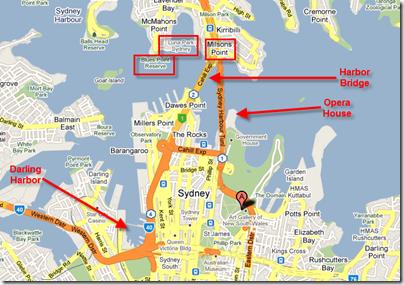 Map of Luna Park, Darling Harbor