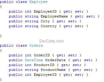 Employee Orders Class