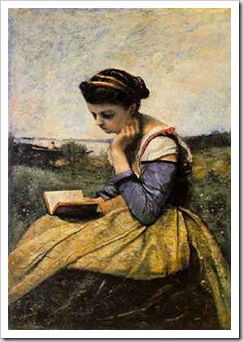 corot woman reading