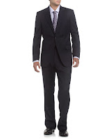 Neiman Marcus Solid Wool Modern Fit Suit, Navy - (42L)