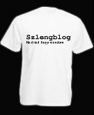 Szlengblog póló klasszik, fehér