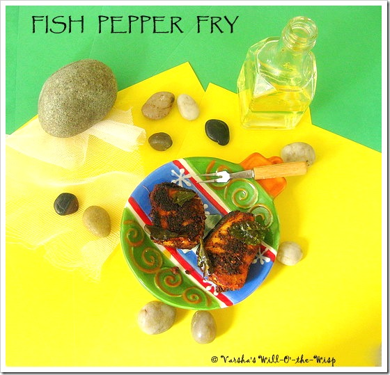 Fish pepper fry
