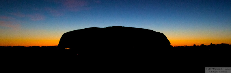 sunrise over uluru, ayer's rock, near alice springs australia