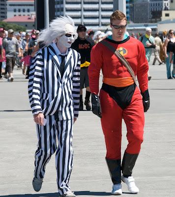 beetlejuice costume batman costume wellington sevens rugby tournament