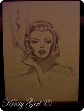Marilyn monroe sketch
