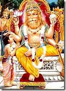 Narasimhadeva blessing Prahlada