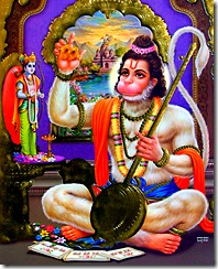 Hanuman, a great devotee, was the spiritual master of Goswami Tulsidas