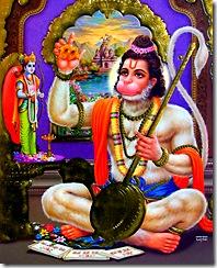 Hanuman, a great devotee, was the spiritual master of Goswami Tulsidas