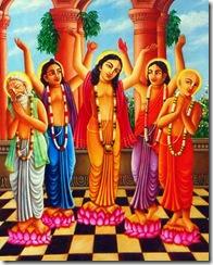 Panchatattva chanting Hare Krishna
