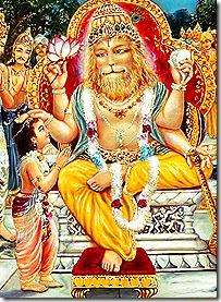 Lord Nrishmadeva and Prahlada