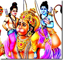 Rama, Lakshmana, and Hanuman