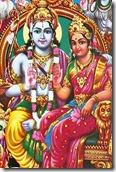 Lord Rama with His wife Sita