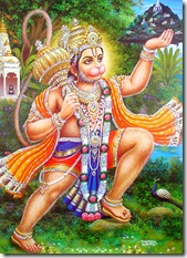 Hanuman carrying a mountain