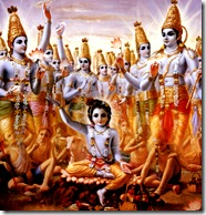 Lord Krishna expanding Himself
