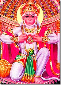 Hanuman keeping Sita and Rama in his heart