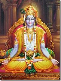 Lord Krishna performing yoga