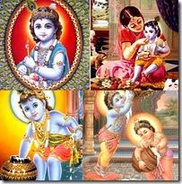 Krishna as a child