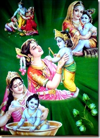 Mother Yashoda with Krishna