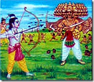 Lord Rama fighting Ravana