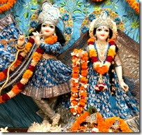 Deities from Radha-Vrindavana Chandra temple