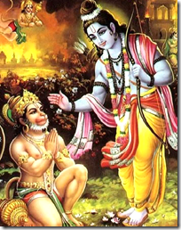 Hanuman meeting Rama