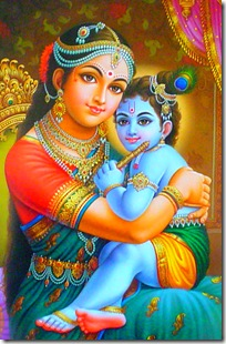 Mother Yashoda with Krishna