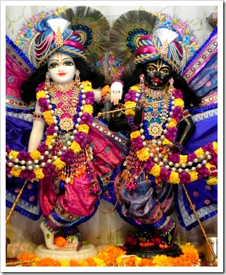 Krishna and Balarama deities