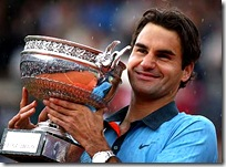 Federer winning French Open