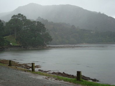 Puriri Bay on a rainy day