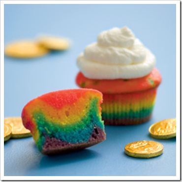 rainbow cupcake