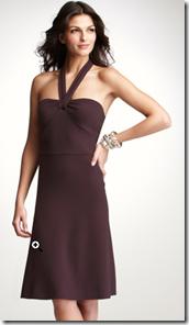 Ann Taylor Plum Halter Dress
