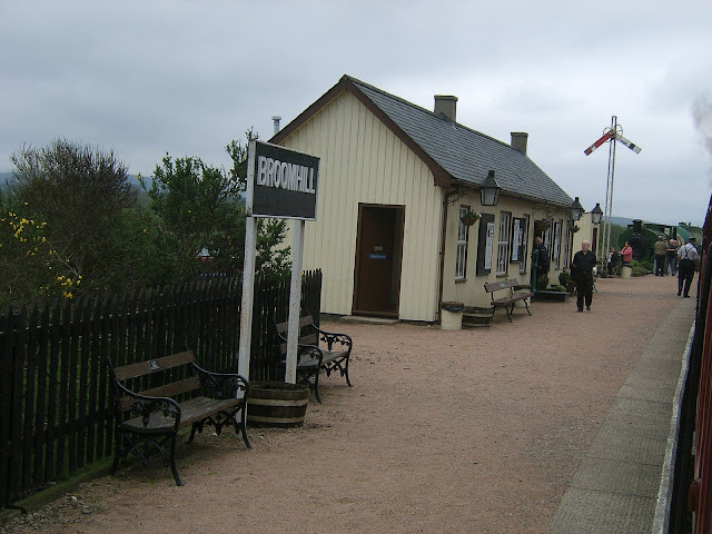 Scotland - The Broomhill station (one of the 2 stations in the 2 hour train journey)