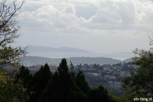 uitzicht vanuit Gassin naar La Croix-Valmer