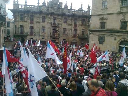 manifestación en Compostela o 29S