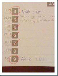 Akid's Calendar