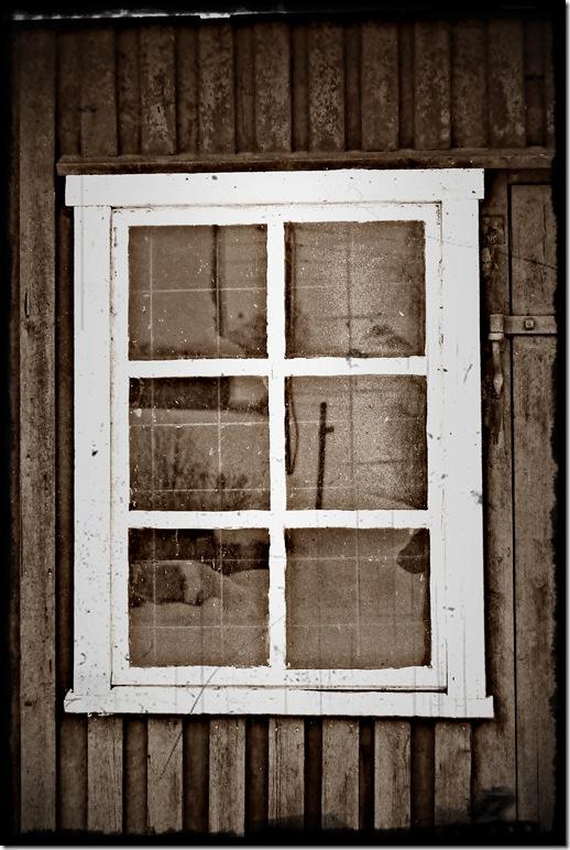 gammelt vindu