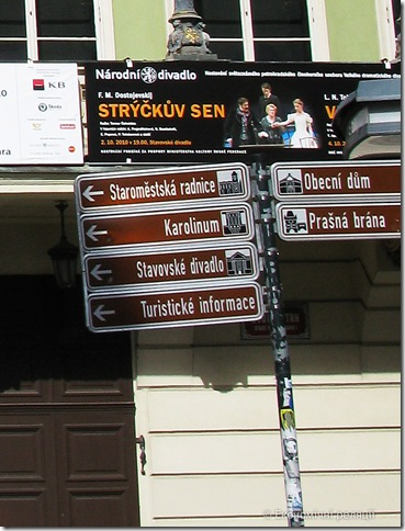 Інформаційні вказівники - Прага