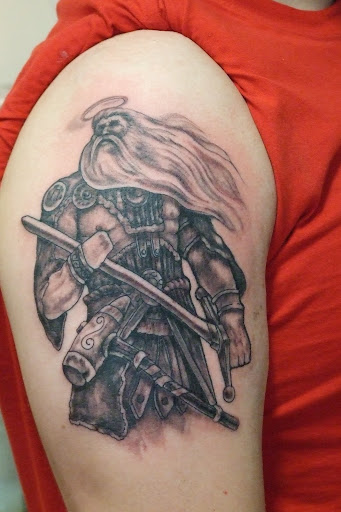 Aztec warriors tattoo